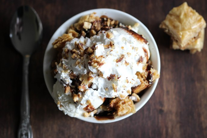 Baklava Sundae: To die for!