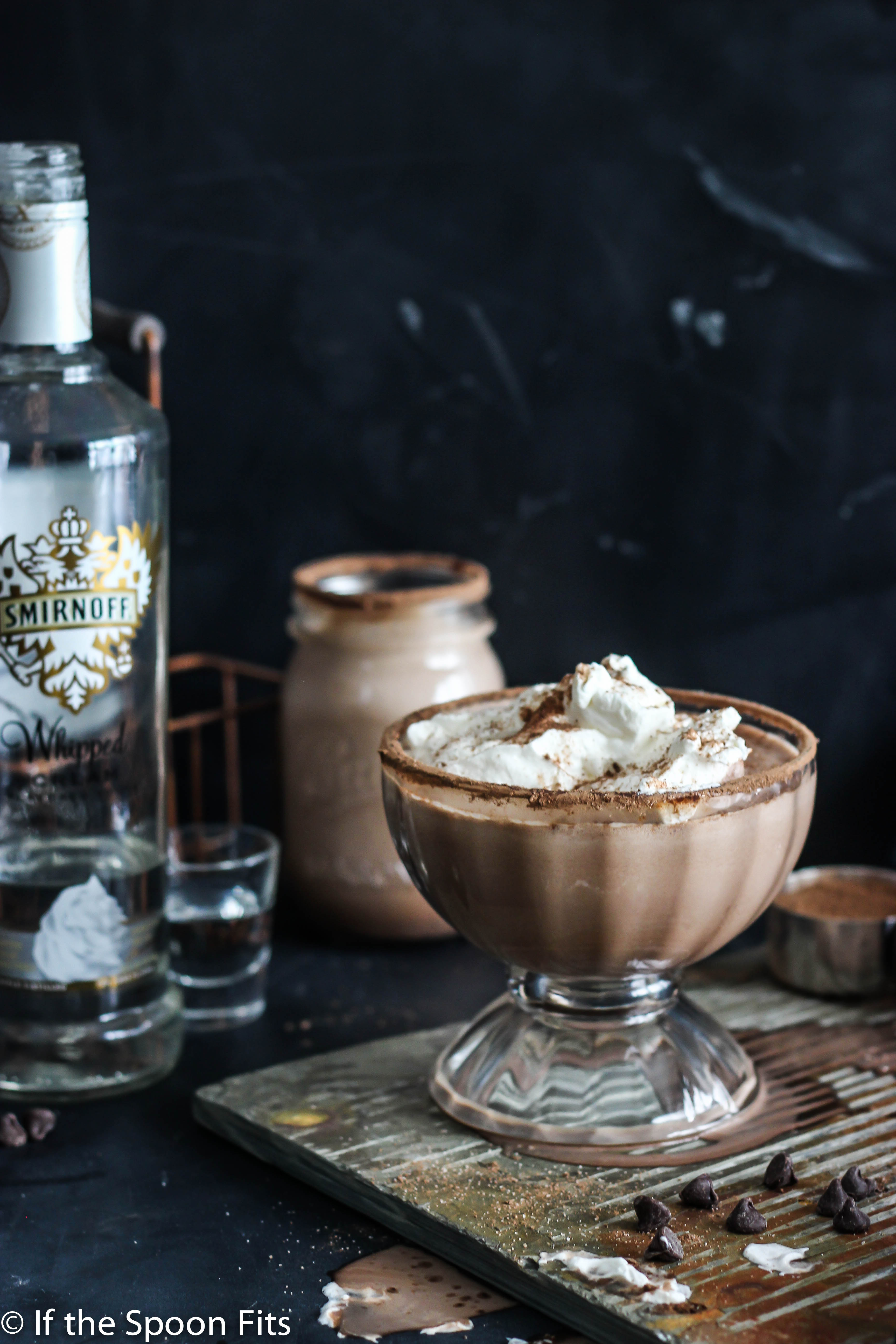 Vodka Spiked Frozen Hot Chocolate | If the Spoon Fits