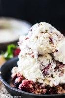 Vanilla Bean and Berry Crumble