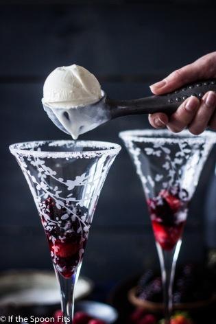 Kir Royale Ice Cream Floats