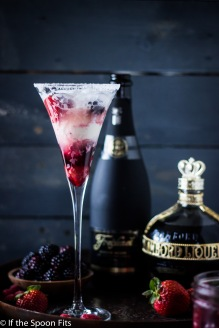 Kir Royale Ice Cream Floats